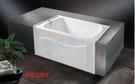【麗室衛浴】BATHTUB WORLD 長型壓克力浴缸 LS-6205 單牆 104*73*60cm
