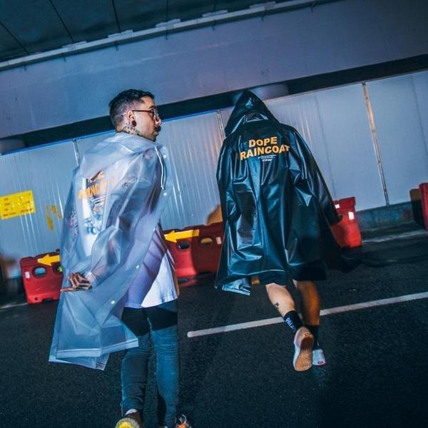情侶徒步雨衣外套男女韓國時尚透明成人韓版長款個性復古女款防水