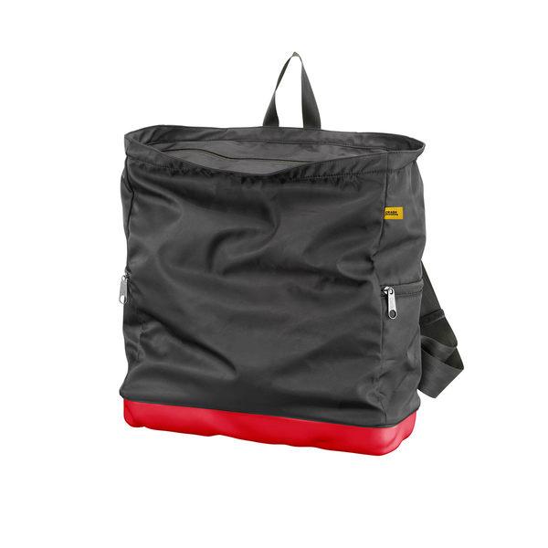 Crash Baggage Bump Bags, 15 吋 前衛霧面 龐克系列 防潑水 後背包 / 筆電包(黑色袋身 - 火焰紅硬殼)