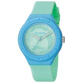 Reebok  CAMO圓點潮流時尚腕錶-粉綠