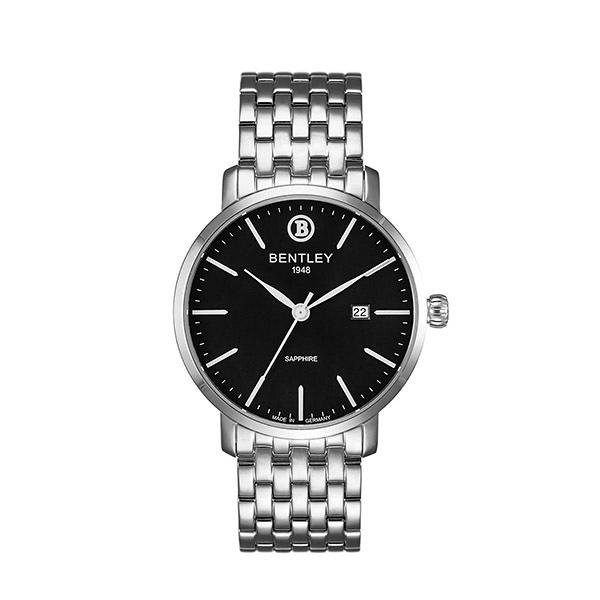 新品上市 ◢BENTLEY 賓利◣ 簡約三針 日期顯示石英錶  日本機芯 德國製造BL1811-10MWBI 黑面