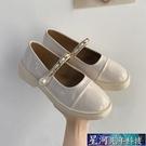 瑪麗珍鞋 厚底英倫風小皮鞋女鞋子新款春季瑪麗珍jk樂福豆豆黑色單鞋 星河光年