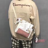 帆布包 2019新款小清新帆布袋ins中包斜背韓版女學生森系文藝抽繩單肩包 4色