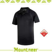 【Mountneer 山林 男 透氣排汗上衣/2L《黑》】31P01-01/抗UV/UPF50+/透氣/排汗衣/上衣/休閒