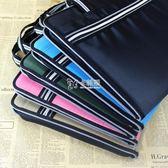 韓版風琴試捲夾文件夾多層學生收納袋帆布a4手提文件袋商務包   卡菲婭