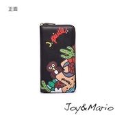 【Joy&Mario】J.Pierce普普風塗鴉款長夾 - B0080T COFFEE