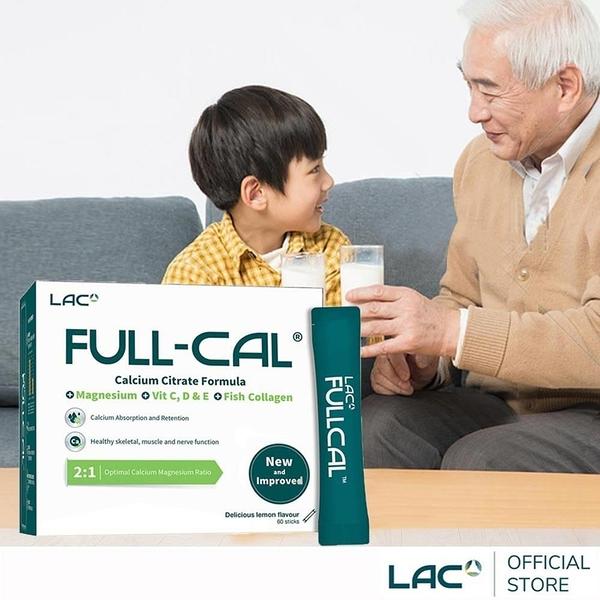 【南紡購物中心】【LAC利維喜】Full-Cal優鎂鈣60包-檸檬口味