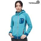【西班牙TERNUA】女Power Stretch Pro 連帽保暖外套1643252 AF / 城市綠洲 (Polartec、刷毛、透氣、快乾)
