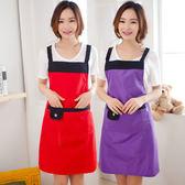 韓製可愛無袖圍裙女式簡約時尚廚房做飯防水防油成人加厚圍腰罩衣【快速出貨八五折鉅惠】