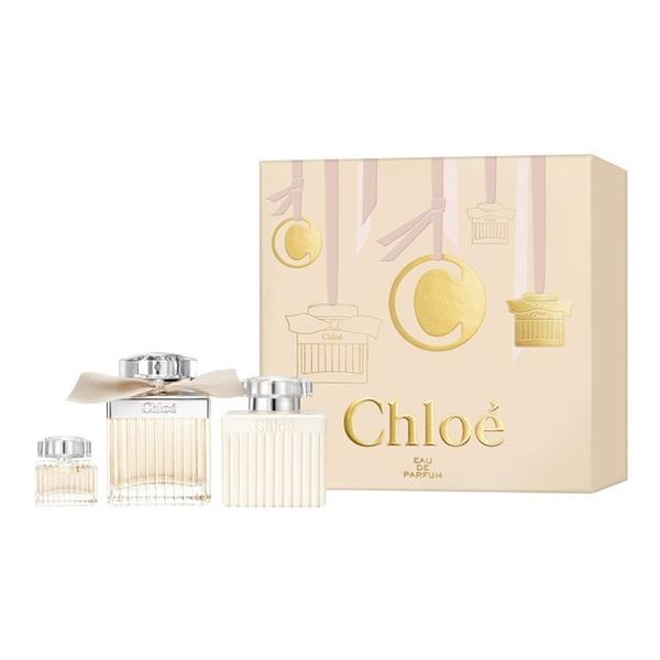 Chloe同名女性淡香精禮盒 (75ml淡香精+5ml+100ml身體乳) Vivo薇朵