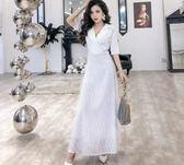 宴會晚禮服新款高貴優雅白色氣質中長款端莊大氣年會 伊蒂斯女装