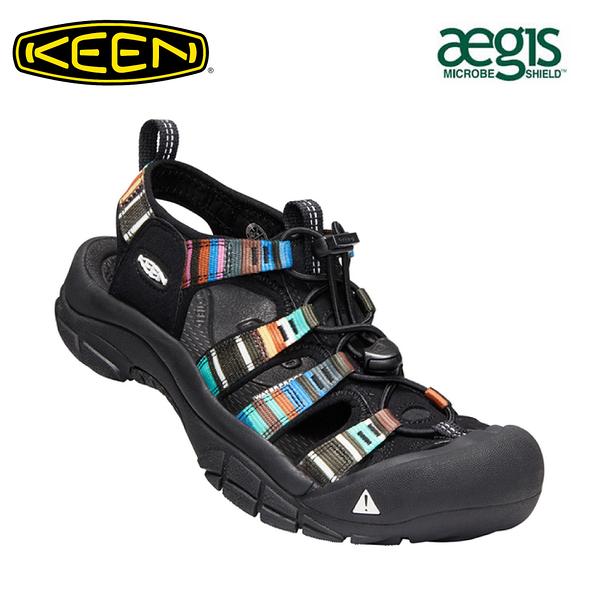 【KEEN 美國 女 NEWPORT H2 護趾涼鞋《黑/彩色》】1003480/水陸兩用鞋/戶外休閒鞋/運動涼鞋