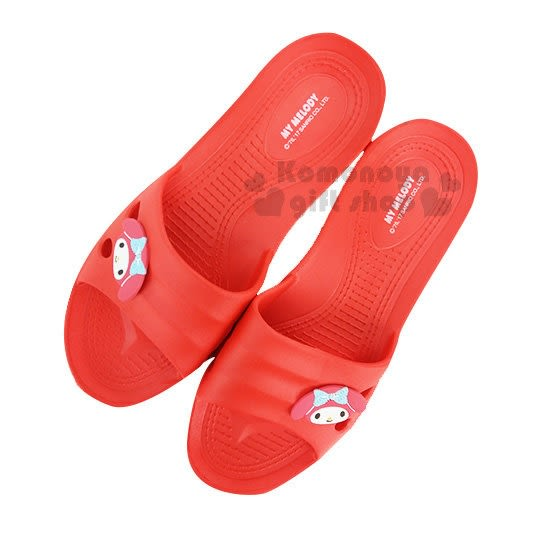〔小禮堂〕美樂蒂 塑膠拖鞋《紅.大臉》環保室內防滑 _713052-38500_
