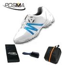 高爾夫球鞋 兒童運動鞋子男童運動鞋防水旋轉扣鞋 GSH127WBLU