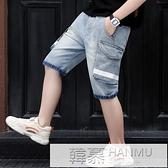 兒童短褲夏季牛仔五分褲男童休閒中褲童裝2021新款工裝韓版 夏季新品