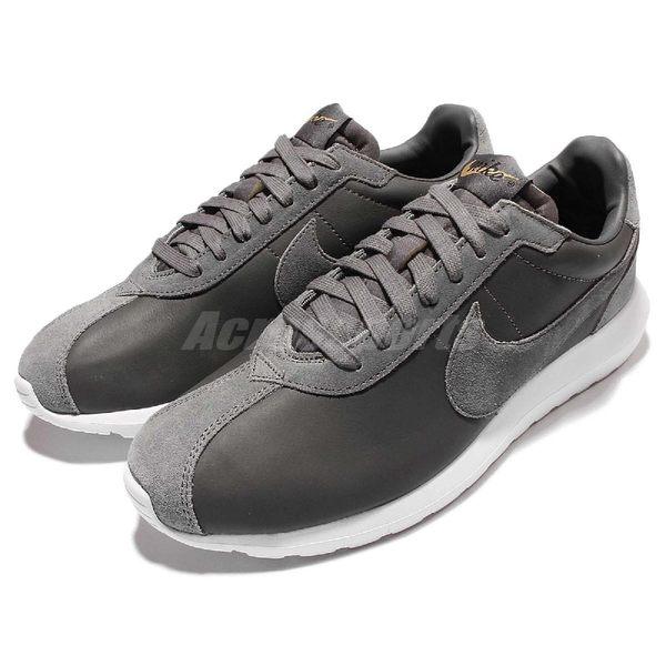 Nike 休閒慢跑鞋 Roshe LD-1000 Premium QS 灰 白 皮革 復古 經典 男鞋【PUMP306】 842564-002