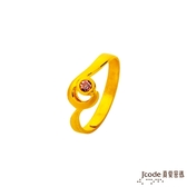 J'code真愛密碼 心海戀人黃金/水晶女戒指