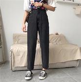 大韓訂製高腰寬褲韓版牛仔褲女直筒褲潮長褲四季褲
