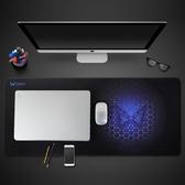 麥本本超大滑鼠墊電競游戲專用黑色簡約ins風大號筆記本電腦桌墊  【快速出貨】