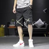 夏季工裝短褲男士2020年新款韓版潮流薄寬鬆休閒沙灘五分中褲 陽光好物