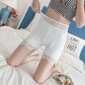 蕾絲大碼安全打底褲可外穿夏天薄款安全褲防走光大碼保險褲女胖mm aj12635『黑色妹妹』