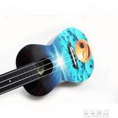 -彩色卡通24寸烏克麗麗小四弦夏威夷小吉他AUP-24-46YJT  【快速出貨】