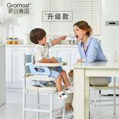 餐椅 Gromast便攜式寶寶餐椅兒童餐桌椅多功能嬰兒吃飯椅子可折疊座椅 酷我衣櫥