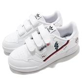 adidas 休閒鞋 Continental 80 CF C 白 紅 中童鞋 童鞋 魔鬼氈 運動鞋 【ACS】 FX6070