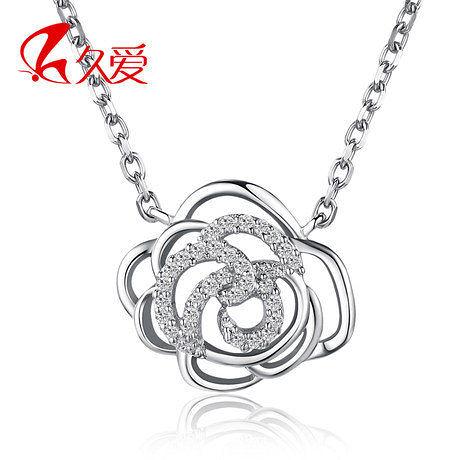 銀項鏈女 玫瑰之吻