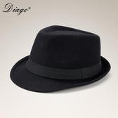 紳士帽 春秋冬季英倫禮帽男女大碼羊毛呢子帽子紳士爵士帽黑色復古新郎帽 小宅女