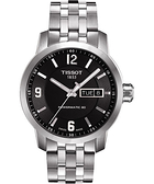 TISSOT 天梭 PRC200 Powermatic 80 時尚機械手錶-黑/39mm T0554301105700