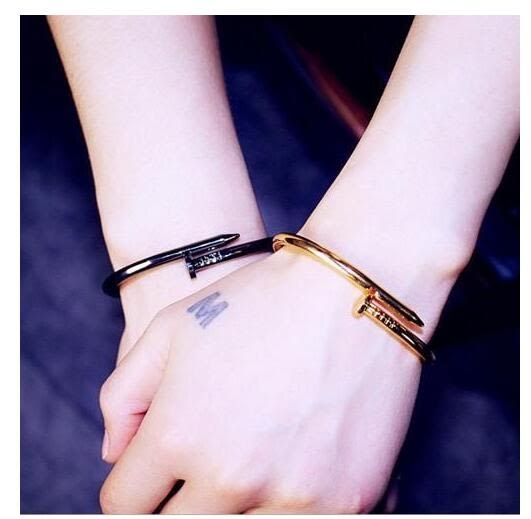 手鍊 情侶流 街頭 男女 時尚 釘子 開口 手鐲 手環 送禮 簡約 時尚 流行 韓版 個性
