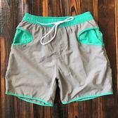 沙灘褲男 寬鬆四分健身運動速干短褲帶內襯 海邊度假溫泉泳褲