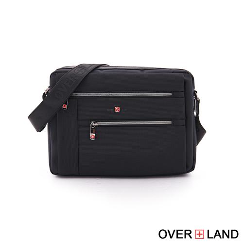 OVERLAND - 美式十字軍 - 機能美型多層拉鍊斜背包 - 5224