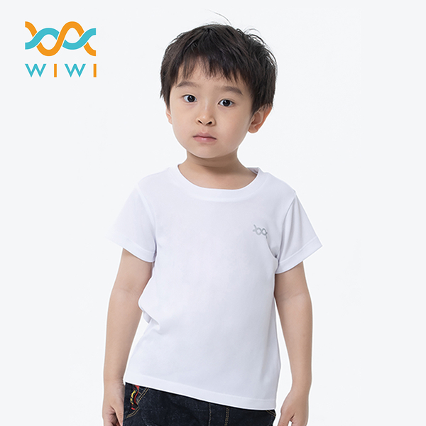 【WIWI】素面防曬排汗涼感衣(純淨白 童70-150)