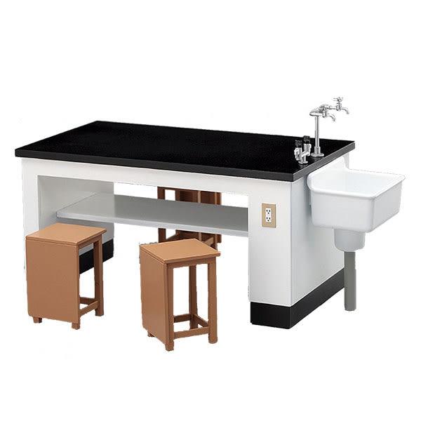 長谷川 Hasegawa 組裝模型 1/12 可動人偶用 理科教室用桌椅 FA04