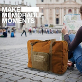 ◄ 生活家精品 ►【X41】復古防水棉麻手提包 男女 旅行 出國 行李 出差 帆布 戶外 拉桿 收納包