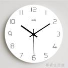 鐘錶掛鐘客廳創意北歐式時鐘臥室現代簡約田園家用個性靜音石英鐘-享家生活館 YTL