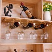 紅酒架 歐式創意懸掛高腳杯架倒掛酒杯架葡萄酒架紅酒杯架家用酒柜擺件 MKS薇薇