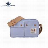 【COLORSMITH】CV.雙層側背包.CV1107-A-BL