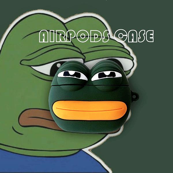? Airpods Pro 專用 1/2代 ??台灣發貨 [ 悲傷的青蛙 ] 藍芽耳機保護套 蘋果無線耳機保護