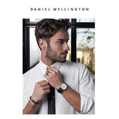DW手錶 官方旗艦店 40mm玫瑰金框 Classic 星空藍尼龍帆布  - Daniel Wellington