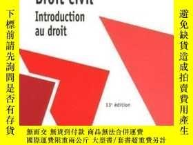 二手書博民逛書店Droit罕見Civil : Introduction Au D