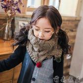 交換禮物 兒童秋冬季圍巾男童女童韓版針織毛線保暖寶寶套頭圍脖毛球加厚潮