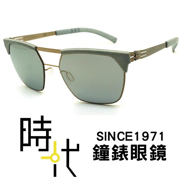 【台南 時代眼鏡 ic! berlin】metropolis bronze faded-mint 薄鋼 無螺絲 多邊形墨鏡 太陽眼鏡 灰 51mm