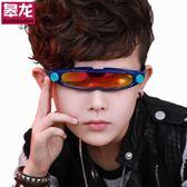 兒童眼鏡墨鏡男童寶寶太陽鏡個性正韓防紫外線潮新款小男孩表演出