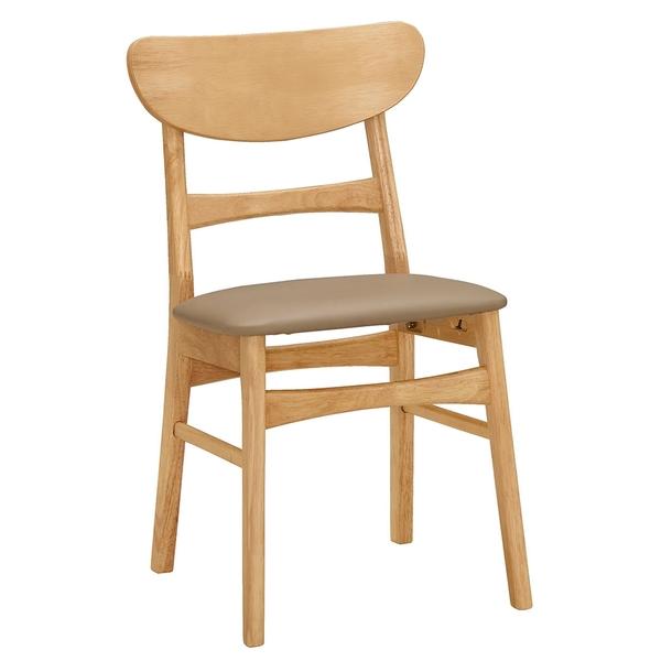 【森可家居】艾格妮餐椅(皮)(實木) 8CM1031-9