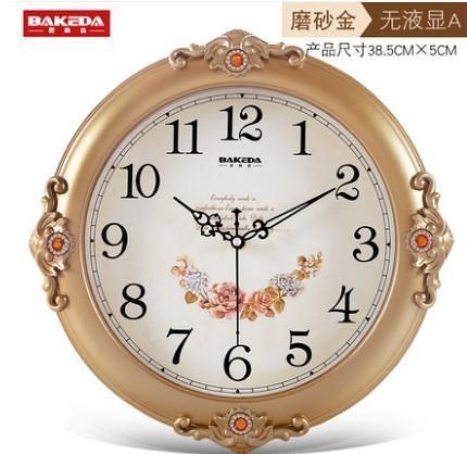 巴科達客廳靜音掛鐘家用創意時鐘時尚個性鐘表歐式掛表臥室石英鐘 小山好物
