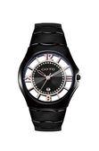 GOTO 羅馬戀曲晶鑽陶瓷時尚手錶-黑