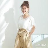 da MIIM鏤空蕾絲荷葉袖上衣-共兩色